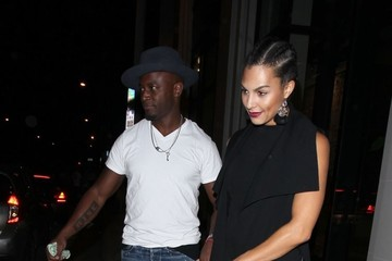Taye Diggs Celebrities Dine Out at Catch Restaurant