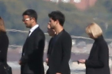Taylor Lautner Celebrities Attend The Debbie Reynolds & Carrie Fisher Funeral