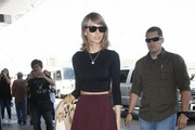 Singer Taylor Swift departing on a flight at LAX airport in Los Angeles, California on June 17, 2015.