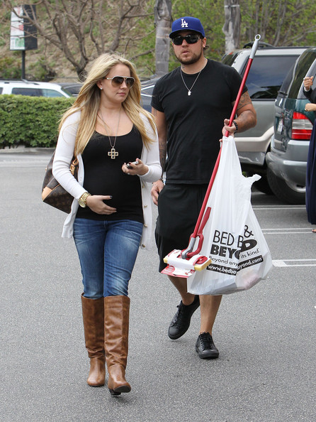 Tiffany Thornton Pregnant actress Tiffany Thornton and husband Christopher out returning some products to Bed, Bath and Beyond in Los Angeles, California on April 12, 2012