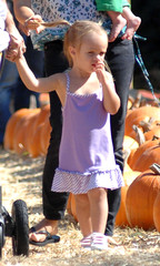 Ruby Sweetheart Maguire Tobey Maguire And Family At A Pumpkin Patch In West Hollywood