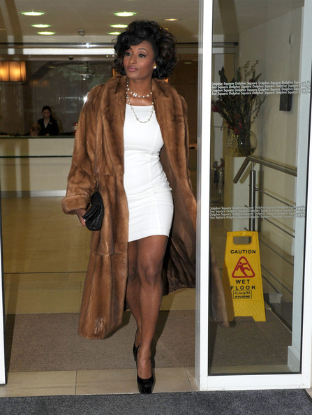 Toccara Jones Model Leaves Her Hotel On February