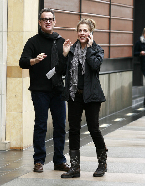 tom hanks wife rita wilson. Actor Tom Hanks, his wife Rita