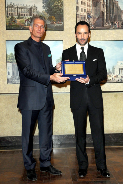Tom Ford Receiving Award At 'A Single Man' Photocall In Milan