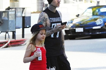 Travis Barker Travis Barker Stops By The Country Mart With His Daughter