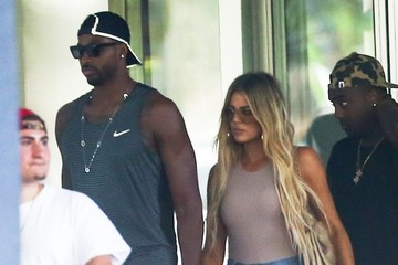Tristan Thompson Khloe Kardashian and a Friend Grab Lunch in Miami