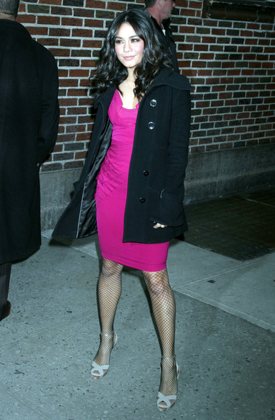 Vanessa Hudgens Oh Land, Donald Trump and Vanessa Hudgens at the 'Late Show with David Letterman' in New York City, NY.