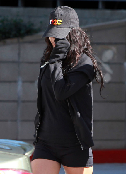 Vanessa Hudgens Actress Vanessa Hudgens and her sister Stella hiding their faces after working out at a gym in Studio City, CA.