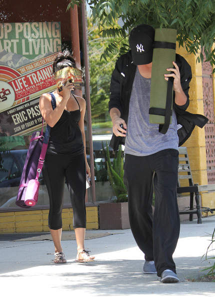 Vanessa Hudgens goes to Yoga