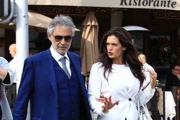 Veronica Berti Andrea Bocelli and His Wife Grab Lunch at Il Pastaio in Beverly Hills
