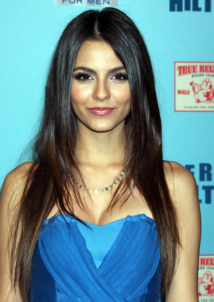 Victoria Justice Celebrities at the Perez Hilton Blue Ball Birthday Celebration at Siren Studios in Hollywood, CA.