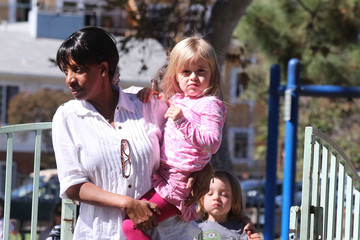 Vivienne Jolie Pitt Knox And Vivienne Jolie-Pitt Enjoy A Day At The Park