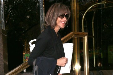 Wendy Malick Celebrities Spotted Outside Their Hotel In NYC