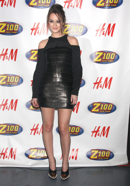 Leighton Meester Celebrities at the Z100 Jingle Ball at the Madison Square Garden in New York City, NY.