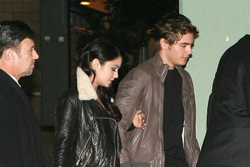 Vanessa Hudgens Zac Efron And Vanessa Hudgens Out For Her 21st Birthday