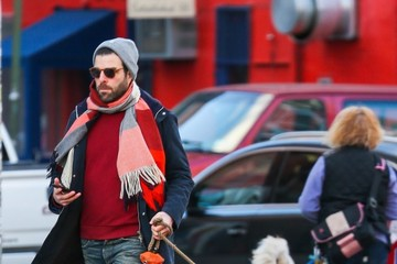 Zachary Quinto Zachary Quinto Takes His Dog For A Walk In NYC