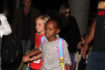 Zahara Jolie-Pitt Angelina Jolie and the Kids Leave LA