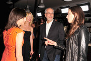 (L-R) Director Ami Canaan Mann, actress Kim Shaw, WIGS co-creator Jon Avnet and actress Troian Bellisario arrive for the party to celebrate the one year anniversary of The WIGS Digital Channel at Akasha on May 2, 2013 in Culver City, California.