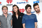 (L-R) Recording artists Niall Horan, Harry Styles, Louis Tomlinson and Liam Payne of One Direction attend 102.7 KIIS FMÂ's Jingle Ball 2015 Presented by Capital One at STAPLES CENTER on December 4, 2015 in Los Angeles, California.