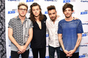 (L-R) Recording artists Niall Horan, Harry Styles, Liam Payne and Louis Tomlinson of music group One Direction attend 102.7 KIIS FMÂ's Jingle Ball 2015 Presented by Capital One at STAPLES CENTER on December 4, 2015 in Los Angeles, California.