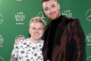 (EDITORIAL USE ONLY. NO COMMERCIAL USE.) (L-R) JoJo Wright and Sam Smith attend 102.7 KIIS FM's Jingle Ball 2019 Presented by Capital One at the Forum on December 6, 2019 in Los Angeles, California.