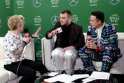 (EDITORIAL USE ONLY. NO COMMERCIAL USE.) (L-R) JoJo Wright, Sam Smith, and Jesse Lozano attend 102.7 KIIS FM's Jingle Ball 2019 Presented by Capital One at the Forum on December 6, 2019 in Los Angeles, California.