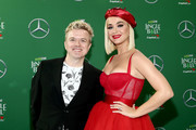 (EDITORIAL USE ONLY. NO COMMERCIAL USE.) (L-R) JoJo Wright and Katy Perry attend 102.7 KIIS FM's Jingle Ball 2019 Presented by Capital One at the Forum on December 6, 2019 in Los Angeles, California.