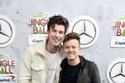 Shawn Mendes (L) and JoJo Wright attend 102.7 KIIS FM's Jingle Ball 2018 Presented by Capital One at The Forum on November 30, 2018 in Inglewood, California.
