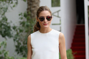 Olivia Palermo attends the final day of the Cartier International Dubai Polo Challenge 10th edition at Desert Palm Hotel on February 21, 2015 in Dubai, United Arab Emirates. The event takes place under the patronage of HRH Princess Haya Bint Al Hussein, Wife of HH Sheikh Mohammed Bin Rashid Al Maktoum, Vice-President and Prime Minister of the UAE and Ruler of Dubai.  The Cartier International Dubai Polo Challenge is one of the most prestigious happenings in Dubai's sporting and social calendar. On this occasion Cartier launched their latest watch creation Cle De Cartier.