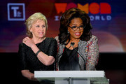 Tina Brown and Oprah Winfrey speak onstage the 10th Anniversary Women In The World Summit at David H. Koch Theater at Lincoln Center on April 10, 2019 in New York City.