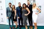(L-R) Musician Dave Haywood of musical group Lady Antebellum, Kelli Cashiola, Chris Tyrrell, singer-songwriter Hillary Scott, singer-songwriter Charles Kelley of musicial group Lady Antebellum and Cassie McConnell attends the 10th Annual ACM Honors at the Ryman Auditorium on August 30, 2016 in Nashville, Tennessee.
