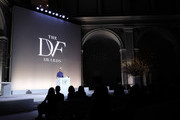 Katy Perry speaks onstage at the 10th Annual DVF Awards at Brooklyn Museum on April 11, 2019 in New York City.