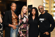 (L-R) Keenyah Hill, Eva Alexandridis, Tashiana Washington and Eric West attend 111SKIN Celebrates Bergdorf Goodman Launch With Cocktails Featuring The Beauty Gypsy at Bergdorf Goodman on June 19, 2019 in New York City.