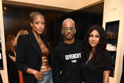 (L-R) Keenyah Hill, Eric West and Tashiana Washington attend 111SKIN Celebrates Bergdorf Goodman Launch With Cocktails Featuring The Beauty Gypsy at Bergdorf Goodman on June 19, 2019 in New York City.