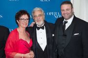 (L-R) Honoree Waltraud Meier, Tenor/Presenter Placido Domingo and Honoree Joseph Calleja attend the 11th Annual Opera News Awards at The Plaza Hotel on April 10, 2016 in New York City.