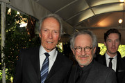 (L to R) Producer / Directors Clint Eastwood and Steven Spielberg arrives at at the 12th Annual AFI Awards held at the Four Seasons Hotel Los Angeles at Beverly Hills on January 13, 2012 in Beverly Hills, California.