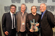 The Americana Music Association's Jed Hilly, Richie Furay and Stephen Stills of Buffalo Springfield, and Ken Paulson backstage at the 12th Annual Americana Music Honors And Awards Ceremony Presented By Nissan on September 18, 2013 in Nashville, United States.