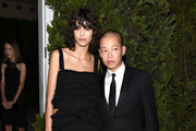 Model Mica Arganaraz (L) and designer Jason Wu attend the 12th annual CFDA/Vogue Fashion Fund Awards at Spring Studios on November 2, 2015 in New York City.