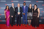 (L-R) 2018 Everyday Heroes Shanthi Viswanathan, Rabbi Jeffrey Myers, Dr. Jeff Cohen, James Shaw, Melissa Falkowski, and Ashley Kurth attend the 12th Annual CNN Heroes: An All-Star Tribute at American Museum of Natural History on December 9, 2018 in New York City.