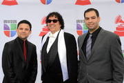 (L-R) Producers Carlos Valesquez, Ramon Martinez and John Blais arrives at the 12th annual Latin GRAMMY Awards at the Mandalay Bay Resort & Casino on November 10, 2011 in Las Vegas, Nevada.