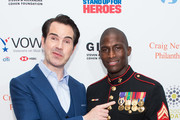 Jimmy Carr and Kionte Storey attend the 12th Annual Stand Up For Heroes at The Hulu Theater at Madison Square Garden on November 5, 2018 in New York City.