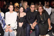Bibhu Mohapatra and Fern Mallis sit at front row as they attend the 12th Annual Supima Design Competition at Pier 59 Studios on September 05, 2019 in New York City.