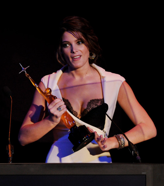 Actress Ashley Greene accepts an award onstage at the 12th Annual Young Hollywood Awards at the Wilshire Ebell Theatre on May 13, 2010 in Los Angeles, California.