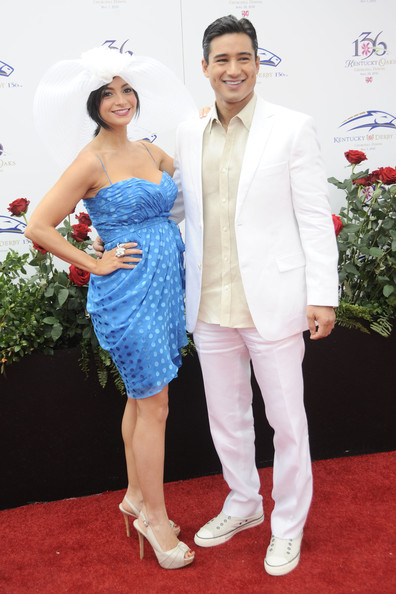 Courtney Laine Mazza Mario Lopez and Courtney Laine Mazza attend the 136th Kentucky Derby on May 1, 2010 in Louisville, Kentucky.