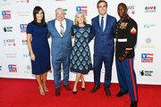 Anne Marie Dougherty, Israel Del Toro, Lee Woodruff, Bob Woodruff, and Kionte Storey attend the 13th annual Stand Up for Heroes to benefit the Bob Woodruff Foundation at The Hulu Theater at Madison Square Garden on November 04, 2019 in New York City.