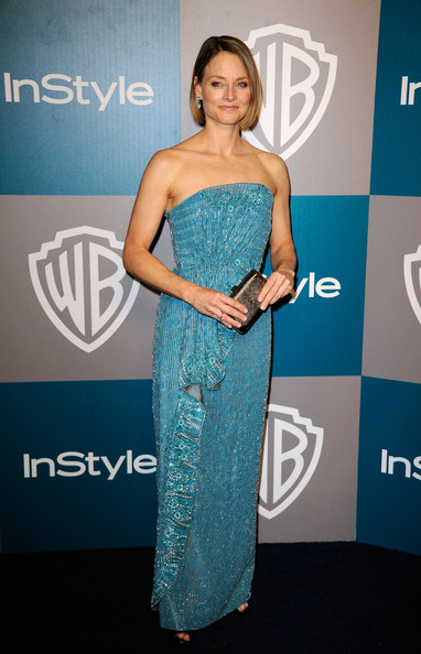Actress Jodie Foster arrives at 13th Annual Warner Bros. And InStyle Golden Globe Awards After Party at The Beverly Hilton hotel on January 15, 2012 in Beverly Hills, California.