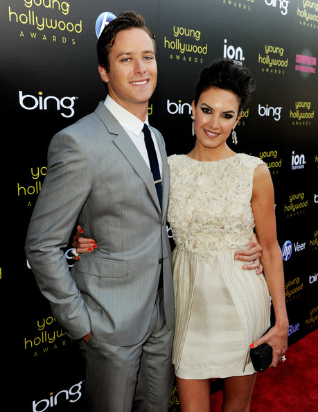 Actor Armie Hammer (L) and his wife Elizabeth Chambers arrive at the 13th Annual Young Hollywood Awards at Club Nokia on May 20, 2011 in Los Angeles, California.