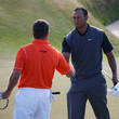 Tiger Woods and Lee Westwood Photos