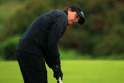 Phil Mickelson of the United States putts during a practice round prior to the 148th Open Championship held on the Dunluce Links at Royal Portrush Golf Club on July 17, 2019 in Portrush, United Kingdom.