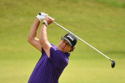 Phil Mickelson of The United States of America plays a shot during a practice round prior to the 148th Open Championship held on the Dunluce Links at Royal Portrush Golf Club on July 16, 2019 in Portrush, United Kingdom.